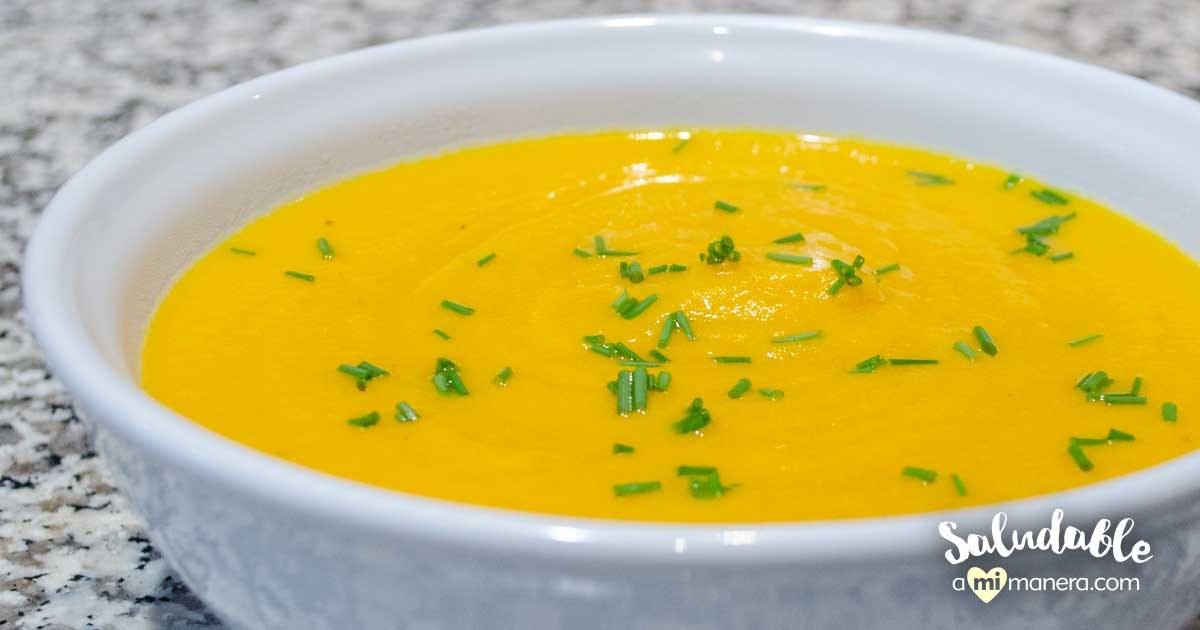 Crema De Zanahoria Con Chayote Y Yogurt